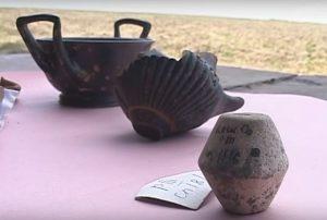 Залишки амфор та іншого глиняного посуду Одессос