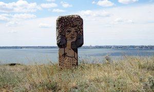 Фрагмент грецької пам'ятки на березі Дністровського лиману