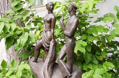 Пам'ятник Шаланди повні кефалі. Сад скульптур Літературного музею в Одесі