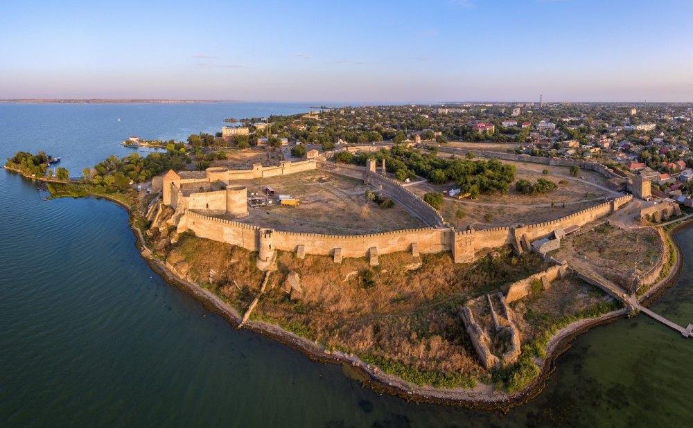 """Парк-музей """"Крепость"""" в Измаиле. Фото с высоты птичьего полета"""