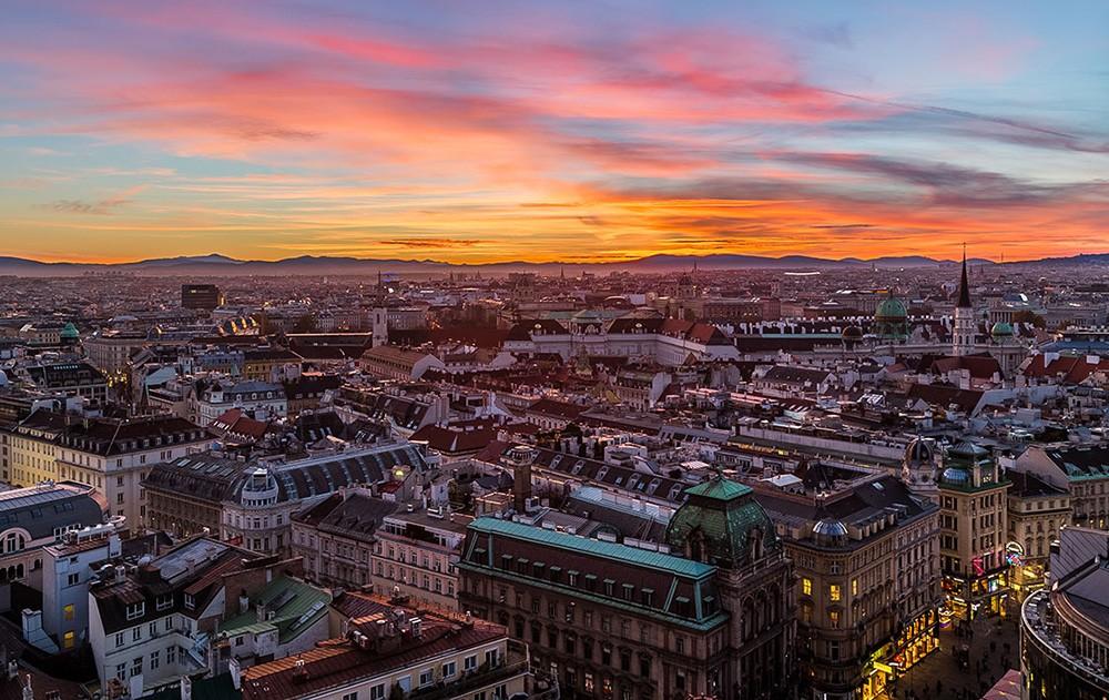 Подорожі до Відня у жовтні. Відень вид згори