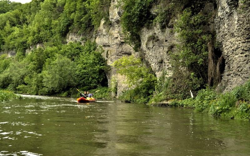 Сплавы на байдарках по реке Смотрич в Каменце-Подольском