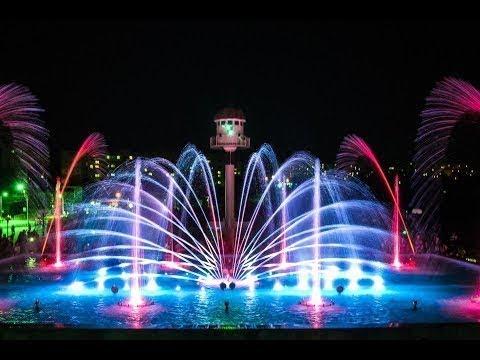 отдых на выходные в умани. что посмотреть. Светомузыкальный фонтан с лазерным шоу в Умани.